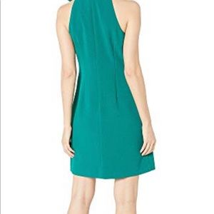 Vince Camuto Green Crepe Bow Toe Halter Deess 10